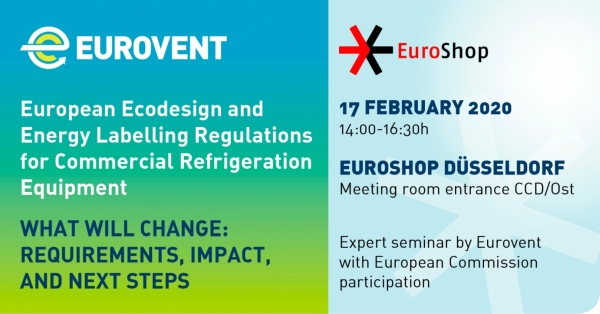Eurovent'ten EuroShop 2020'de Ecodesign ve Enerji Etiketlemesi Semineri