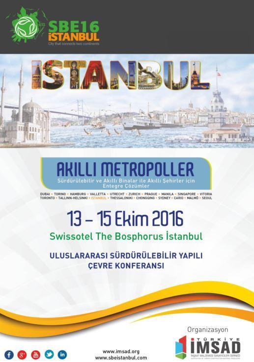 SBE16 İstanbul Konferansı Türk yapı Sektörüne Yön Verecek