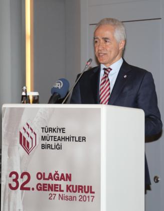 Mithat Yenigün, Yeniden Türkiye Müteahhitler Birliği Başkanı Seçildi