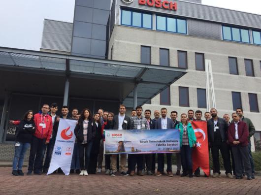 Bosch Termoteknik'in Deventer'deki Fabrikasına Türk Gaz Şirketlerinden Ziyaret