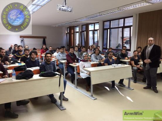 Armacell Yalıtım, Yıldız Teknik Üniversitesi Makine Mühendisliği Bölümü Öğrencilerine Eğitim Verdi
