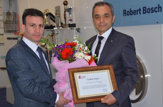 Bosch Termoteknik'e Maliye Bakanlığı'ndan Teşekkür Belgesi