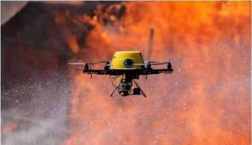 Çin, Yüksek Katlı Bina Yangınları için Dron Geliştirdi