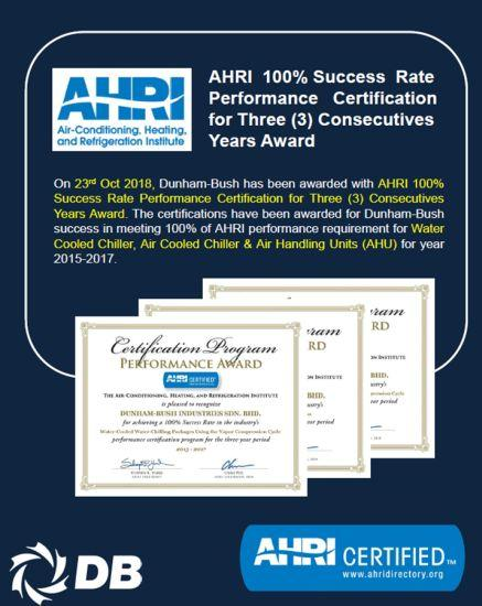 Form Grup'un 46 Yıllık İş Ortağı Dunham Bush'a AHRI Başarı Ödülü