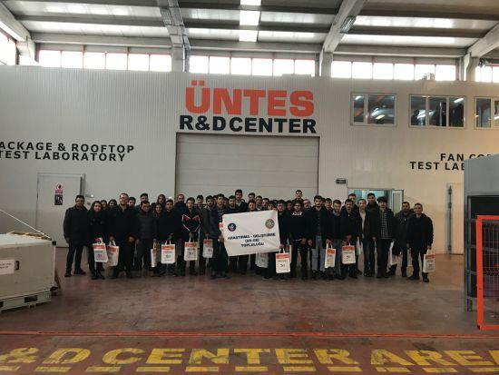 Üntes, Kırıkkale Üniversitesi Makine Mühendisliği Ar-Ge Topluluğu Öğrencilerini Fabrikasında Ağırladı