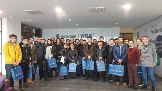 Kültür Üniversitesi Öğrencilerinden Systemair HSK'nın Dilovası'ndaki Fabrikasına Ziyaret