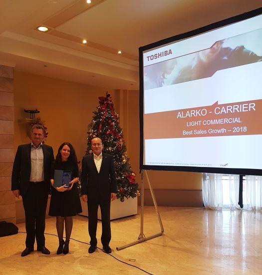 """Alarko Carrier, Toshiba Tarafından """"EMEA Bölgesi-En İyi Satış Büyümesi"""" Ödülünü Aldı"""