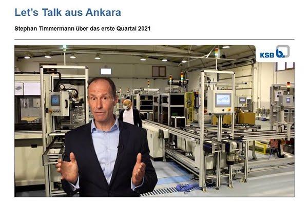 Dr. Stephan Timmerman, KSB'nin Ankara'daki Üretim Tesislerini Dünyaya Tanıttı