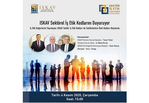 ISKAV, Sektörel İş Etik Kodlarını Duyurdu