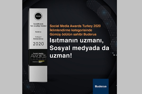 Social Media Awards'tan Buderus'a Gümüş Ödül