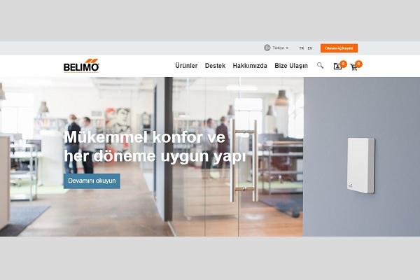 Belimo Türkiye'nin Yenilenen Web Sitesi Yayında