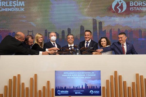 Borsa İstanbul'da Gong Birleşim Mühendislik için Çaldı
