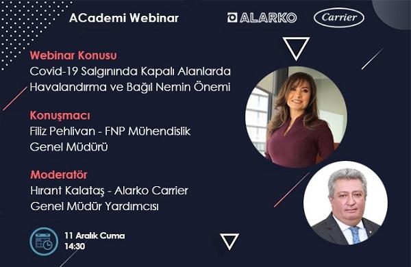 Alarko Carrier'ın ACademi Webinarları Tüm Hızıyla Devam Ediyor